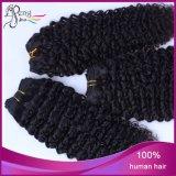 ブラジルのバージンのRemyの加工されていない絹の直毛のよこ糸