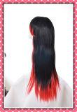 Perruque synthétique de cheveux droits de perruque de cheveux de long modèle