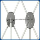 Stand à la mode de drapeau de l'aluminium X de plaque de 2016 ovales