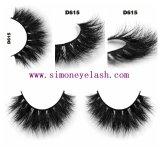 el visión lujoso 3D azota el pelo natural Eyelashe falso de las capas de Multy