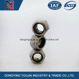 Het Heersen van het Roestvrij staal DIN985 Noten van uitstekende kwaliteit van het Type van Torsie Hexagon Dikke met Niet-metalen Tussenvoegsel