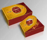 Golden+Red Cardboard Perfume Box para Gift, Perfume Packaging