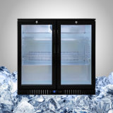 Refrigerador posterior de la barra con la puerta de cristal