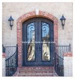 2017 portas de entrada decorativas do cano principal do ferro feito