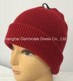 袖口(Hjb058)が付いている方法肋骨の帽子の帽子の編む帽子