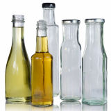 200ml 500ml 1000ml botellas de vidrio de 250 ml Jugo Leche con tapón de rosca de metal mayorista