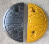 Jaune et Black Road Traffic Safety Rubber Speed Bumps