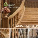 Baluster van het Graniet van China de Witte/Zwarte/Rode/Gele/Gouden/Bruine Marmeren voor Portieken/Trappen/Balkon