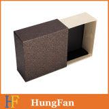 Boîte à tiroirs à armoires en papier de luxe avec logo d'estampage à chaud