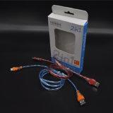 Цветастый кабель данным по USB света СИД Shining