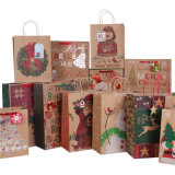 Brown Kraft Paper Bags para Christmas Holiday