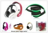 Складным Hifi стерео наушники связанные проволокой шлемофоном для таблеток компьтер-книжки iPhone PC
