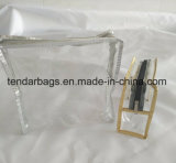 Piccolo sacchetto della chiusura lampo della radura del PVC del sacchetto di plastica della chiusura lampo