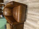 브라운 고품질 가죽 소파 의자 (J12)