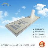 5 años de garantía 30W-80W ahorro de energía LED luz de calle solar con sensor de movimiento