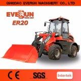 Everun Zl20 pequeño cargador de 2.0 toneladas con el tirón rápido