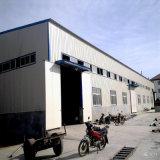 Edifício pré-fabricado do painel de sanduíche da construção de aço/armazém de aço