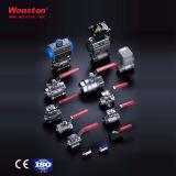 Kugelventil des Qualitäts-Edelstahl-3PC mit Verschluss 1000wog