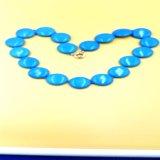 La oblea del azul de turquesa de Stablized rebordea el collar