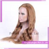 Peluca baja superior de seda del frente del cordón de las pelucas de la piel el 100% fina de calidad superior al por mayor