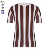 T-shirt rayé vertical blanc rouge en bloc bon marché en gros fait sur commande