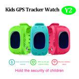 O relógio do perseguidor do GPS dos miúdos com GPS+Lbs Dual a posição (Y2)