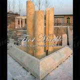 Marmeren Gouden Fontein mf-1036 van de Woestijn van de Tuin van het Graniet van de Steen