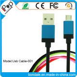 Cavo di dati del USB del cavo del caricatore micro con il telefono mobile Android