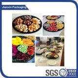 3/4//5/6 placa plástica de la bandeja del alimento del compartimiento