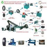 Hohe Leistungsfähigkeits-automatischer überschüssiger Reifen, der Maschine zum Gummipuder/zu verwendetem Gummireifen aufbereiten Pyrolyse-Pflanze aufbereitet