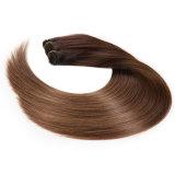 O cabelo reto peruano humano dos pacotes 7A do Weave do cabelo de Ombre do lote reto peruano do cabelo 4PCS do Virgin não tece nenhum cabelo humano de derramamento
