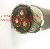 18/30 (36) kilovolts, câble de PVC 3X70mm2 de la SWA d'Al XLPE