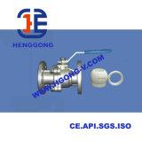 Vávula de bola eléctrica flotante de acero inoxidable del borde ANSI/API del actuador