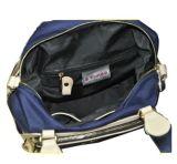 革/Toteファブリックハンドバッグ(BS13080)が付いているファブリックハンドバッグ
