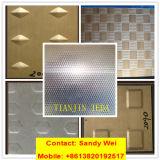 Edelstahl-Platte der Fußboden-Treppen-AISI 316ti mit Checkered Chequered Gleitschutzende des diamant-2b