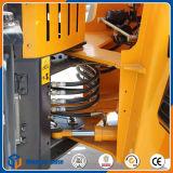 Carregador da roda do equipamento compato de 1.5 toneladas mini com forquilha da pálete