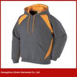 Hommes blanc en gros faits sur commande de Hoodies de pull avec propre broderie de logo (T84)