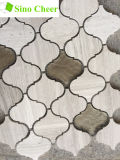 Glass Mix Stone Lantern Mosaic Tile Backsplash