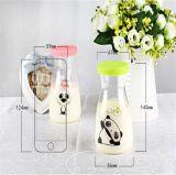 Bouteille en verre à base de lait Bouteille à jus de fruits avec étiquette