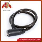Gewundener Kabel-Kombinationsschloss-Fahrrad-Verschluss-Motorrad-Verschluss mit Schlüsseln