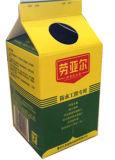 6 층 500ml 우유 주스 또는 크림 또는 포도주 또는 요구르트 또는 물 박공 상단 판지