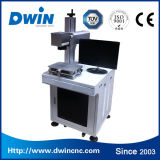 máquina de la marca del laser de la fibra del metal de 10W 20W para el PVC de Plastis del anillo