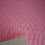 A pele clássica do pitão da certificação do GV alinha o couro de couro do PVC dos sacos da bagagem