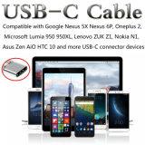 Nuevo cable del USB C del cortocircuito de la llegada 2017 con Keychain