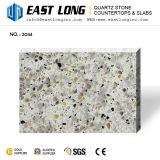 Pierre artificielle de quartz de couleur de granit pour des dessus de vanité avec la surface solide