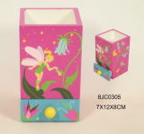 Caixa de jóia feericamente da borboleta En71 padrão quente com espelho