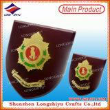 Médaille en bois en métal de plaques de bouclier de plaques de la Guyane de métier en bois décoratif de médaille