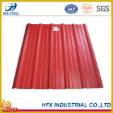 Colorer la plaque en acier de toit ondulé en métal