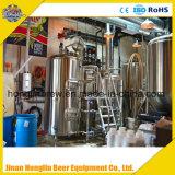 商業ビールビール醸造所装置、ターンキープロジェクトビールビール醸造所システム販売のための冷却の発酵槽が付いているマイクロビール醸造所装置