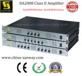 Da2008 1u 8 canaux 300W 4 Ohms Classe D High End Amplificateur audio